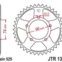 ΓΡΑΝΑΖΙ CHIAR 01313-40 CBR400RR 88/89