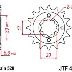 ΓΡΑΝΑΖΙ JT JTF430-13 KXF250/RMZ250 04/060