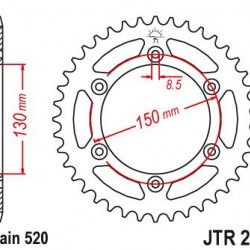 ΓΡΑΝΑΖΙ CHIAR 02015-52/ER WR250Z/WR400 0251-52