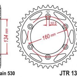 ΓΡΑΝΑΖΙ CHIAR 02060-40 CBR1000RR JTR1306