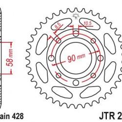 ΓΡΑΝΑΖΙ  JT JTR269-39 CB125