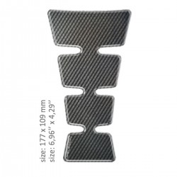 TANK PAD GLOSS GRAY CARBON DESIGN -17,7 CM X 10,9 CM