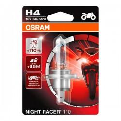 ΛΑΜΠΑ 12V60-55 H4 OSRAM +110 % NIGHT RACER RC110 64193NR1-01B P43T